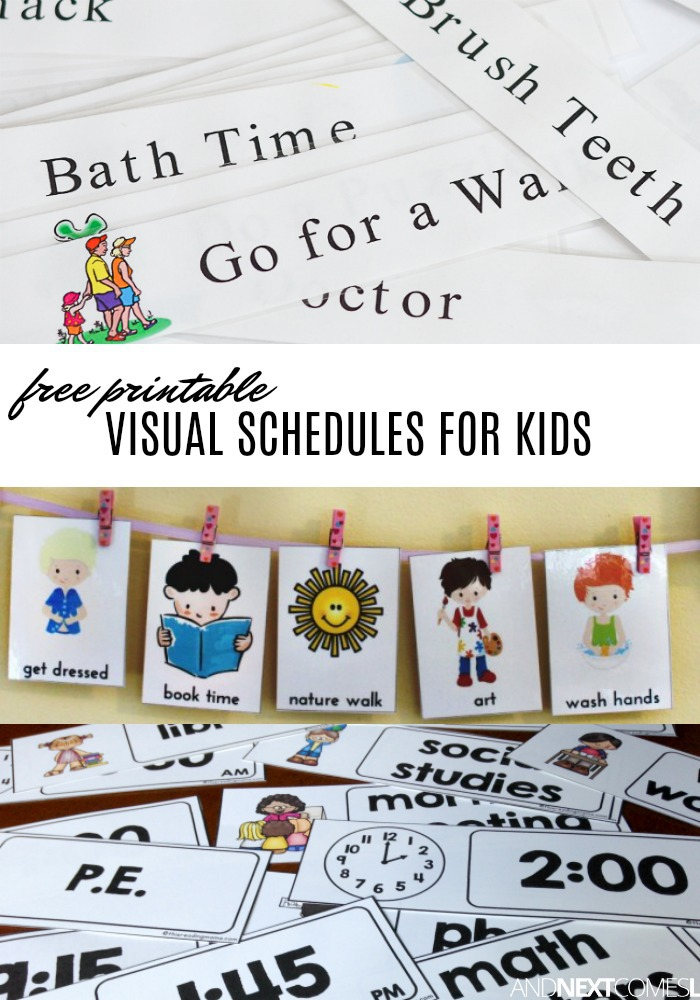 image regarding Free Printable Visual Schedule for Preschool referred to as Free of charge Visible Program Printables towards Assistance Youngsters with Each day