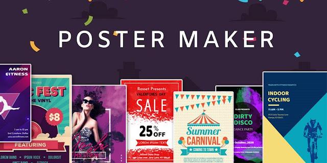 تطبيق Poster Maker لتصمم بوسترات وملصقات اعلانية من خلال هاتفك