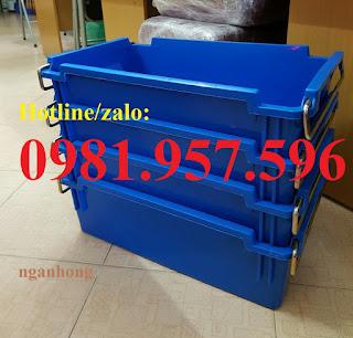 Thùng nhựa có quai sắt tại Hà Nội, thùng nhựa đựng linh kiện điện tử có quai sắt