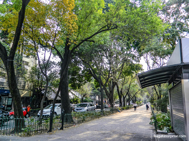 Rua do bairro de Colonia Roma, Cidade do México