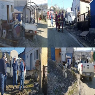 Impacto contra un nicho de gas en Ushuaia