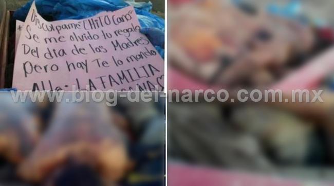 """""""Discúlpame Chito Cano, Se me olvido tu regalo del día de las madres"""" Familia Michoacana así dejo Narcomensaje y 12 ejecutados del CJNG en Huetamo; Michoacán"""