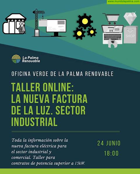 La Oficina Verde de La Palma Renovable celebra un taller sobre la nueva factura de la luz destinado a medianos y grandes consumidores