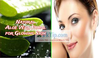 Natural Aloe Vera Facial for Glowing Skin
