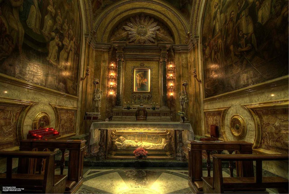 Beata Ana Maria Taigi, túmulo em São Crisogono, Roma. Foto de Claudio De Lucchi