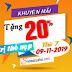 Chương trình khuyến mãi Viettel tặng 20% ngày 09-11-2019