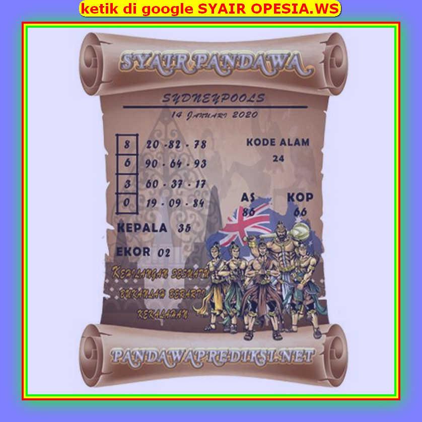 Kode syair Sydney Selasa 14 Januari 2020 94