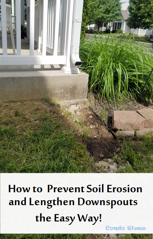 How to prevent soil erosion and lengthen downspouts the easy way
