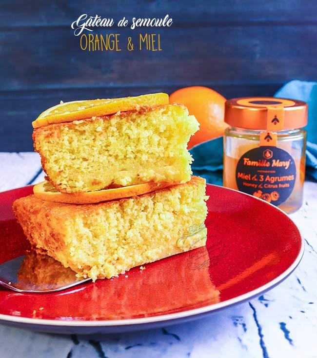 gateau miel orange