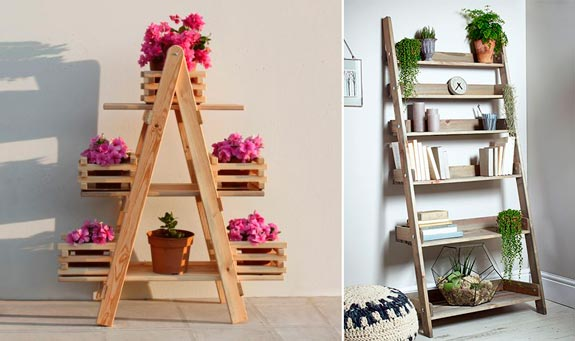 Blog de mbar muebles las estanter as escalera un diy for Escaleras libreria