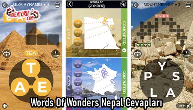 Words Of Wonders Nepal Cevaplari