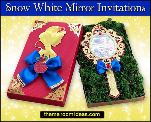 Snow White Mirror Invitations snow white party invitations snow white party decorations