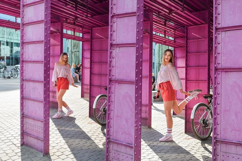 Pink summer in Warsaw
