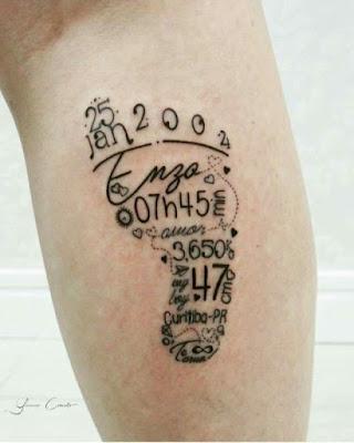 Tatuajes bonitos de huellas de bebé