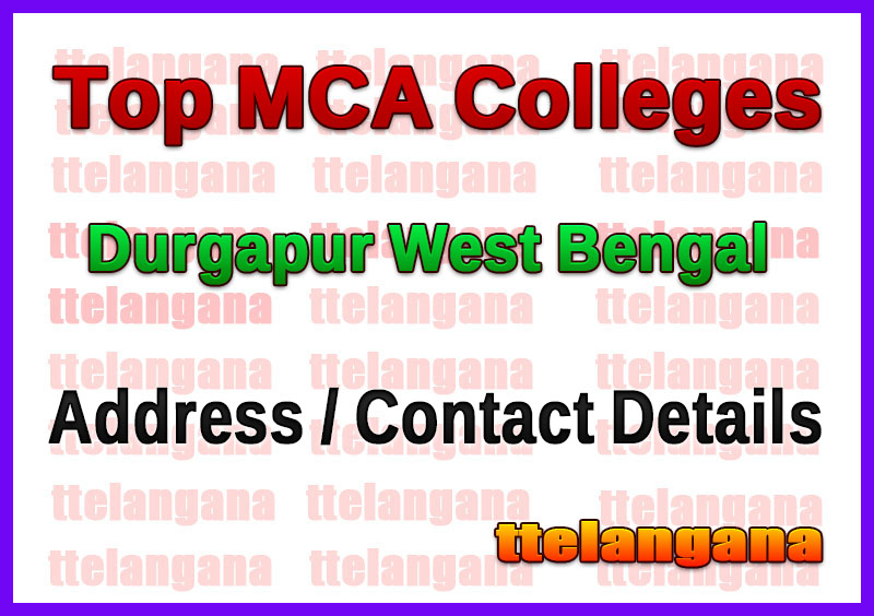 Top MCA Colleges in Durgapur West Bengal