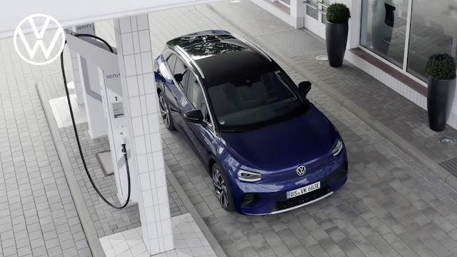 Volkswagen ID4 surge em carregamento rápido IONITYVolkswagen ID4 surge em carregamento rápido IONITY