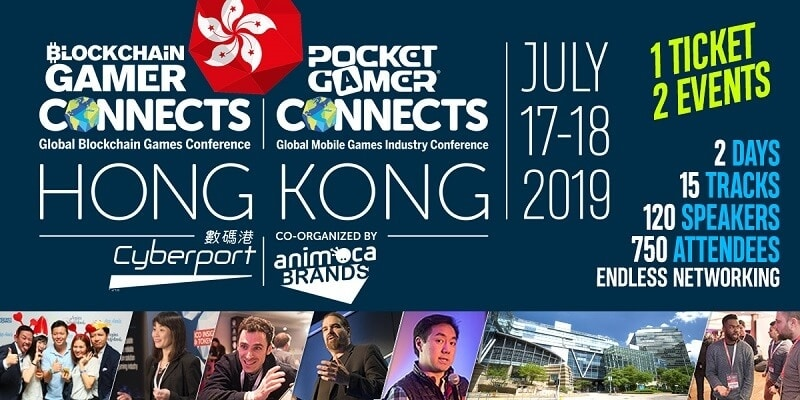 Blockchain Gamer & Pocket Gamer Connects Hong Kong 2019