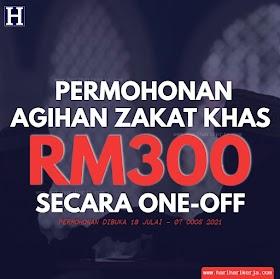 Permohonan Agihan Zakat Khas RM300 Secara One-Off