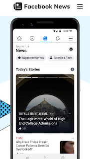 Facebook launches news tab on mobile app