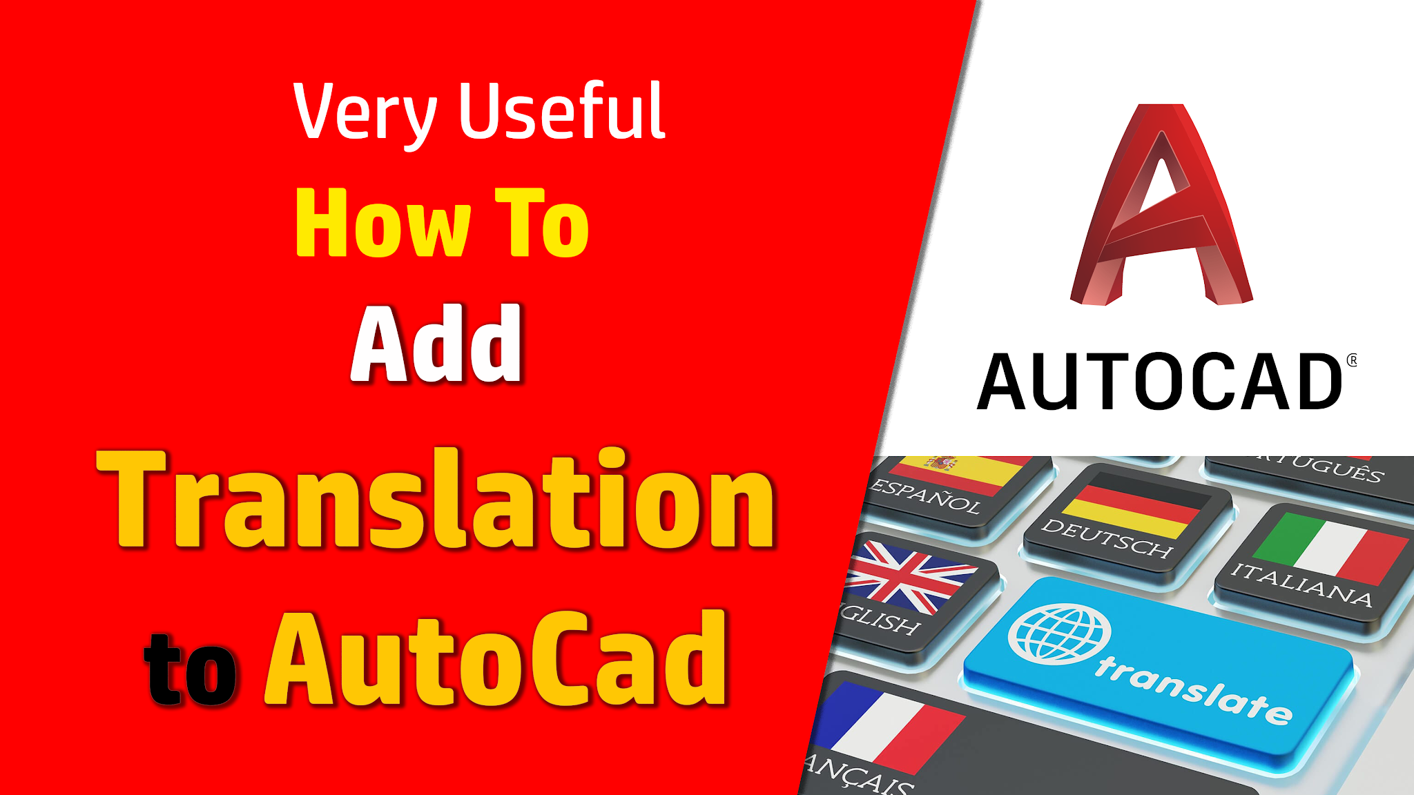 Very useful: How to add translation to AutoCad