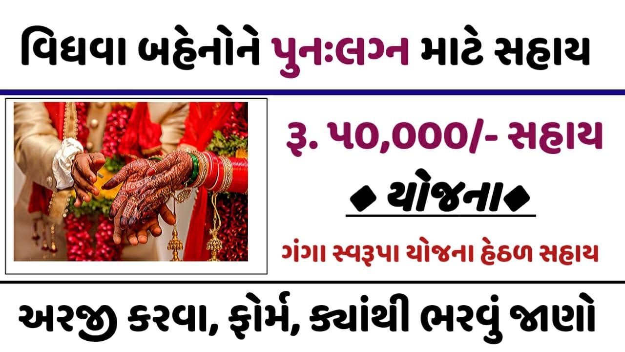 Gujarat Widow Remarriage: Ganga Swarupa Yojana Application Form 2021