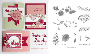 Stampin' Up! Forever Lovely Card Kit for January 2019 Stamp of the Month Club by Julie Davison www.juliedavison.com/clubs