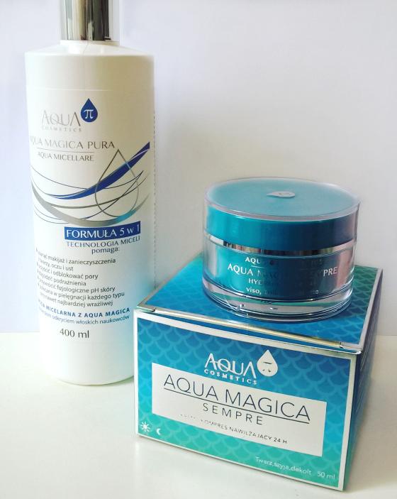 Aqua π Cosmetics - woda micelarna i kompres nawilżający 24h krem
