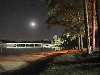 View of the bridge at night