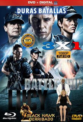 Duras Batallas 3X1 COMBO DVD HD LATINO 5.1