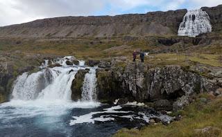 Cascada de Baejarfoss. Fiordos del Oeste, Islandia. West Fjords, Iceland.