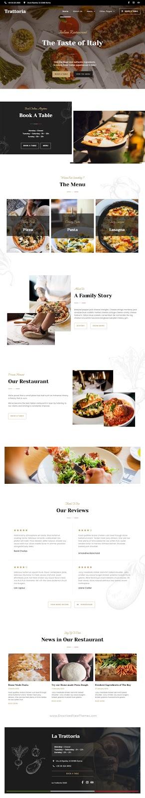 Italian Restaurant Elementor Template Kit