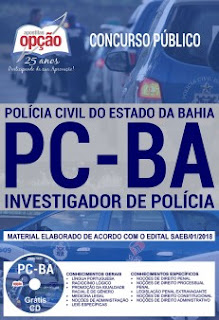 Apostila Polícia Civil da Bahia Investigador de Polícia