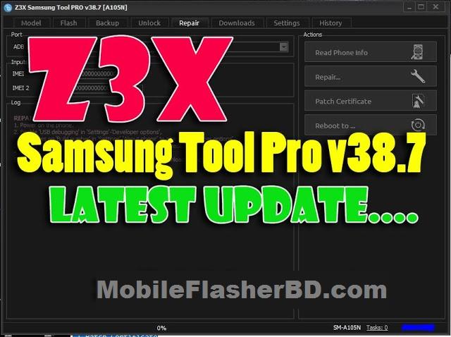 Download z3x Box Samsung Tool Pro v38.7 SetupFile Network IMEI Unlock Free For All By Jonaki Telecom