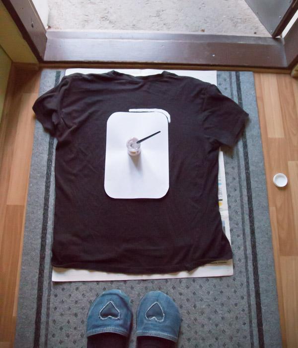 Näin maalasin autoradan t-paitaan