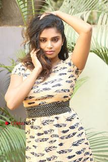 Telugu Actress Karunya Chowdary Stills in Short Dress at ATM Not Working Press Meet  0056.jpg