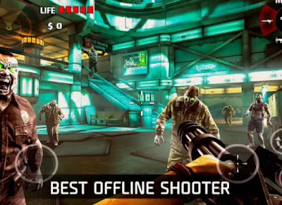 3.لعبة   DEAD TRIGGER – Offline Zombie Shooter