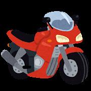 カウルのついたバイクのイラスト