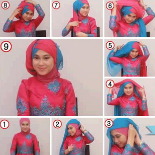 Tutorial Hijab Kebaya Modern