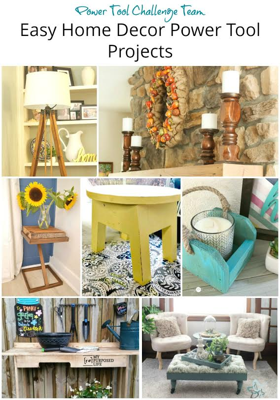Power tool challenge team Easy home decor power tool projects