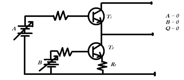 Rangkaian gerbang AND dengan Transistor
