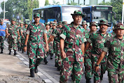 Minggu Militer, Dandim 0503/JB Pimpin Long Mars Guna Menjamin Kesiapsiagaan Personil