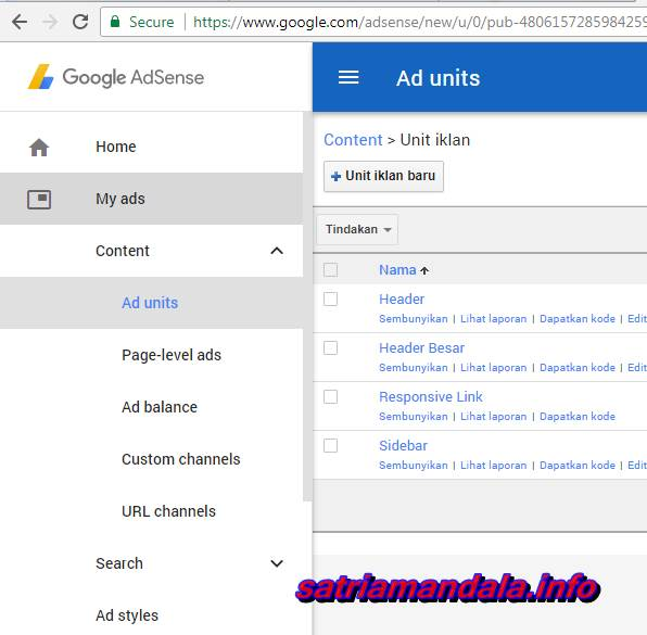 Membuat Iklan Baru Pada Google Adsense