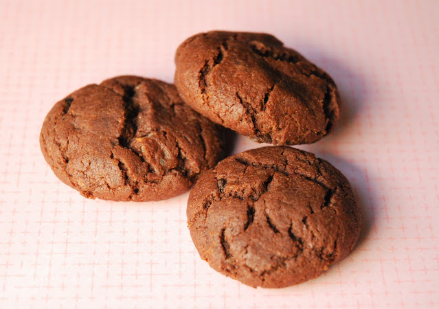 Biscuits croustillants chocolat - gingembre