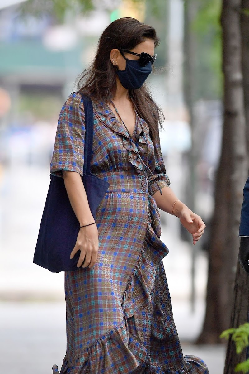 Katie Holmes Clicked Outside in New York 23 Aug -2020