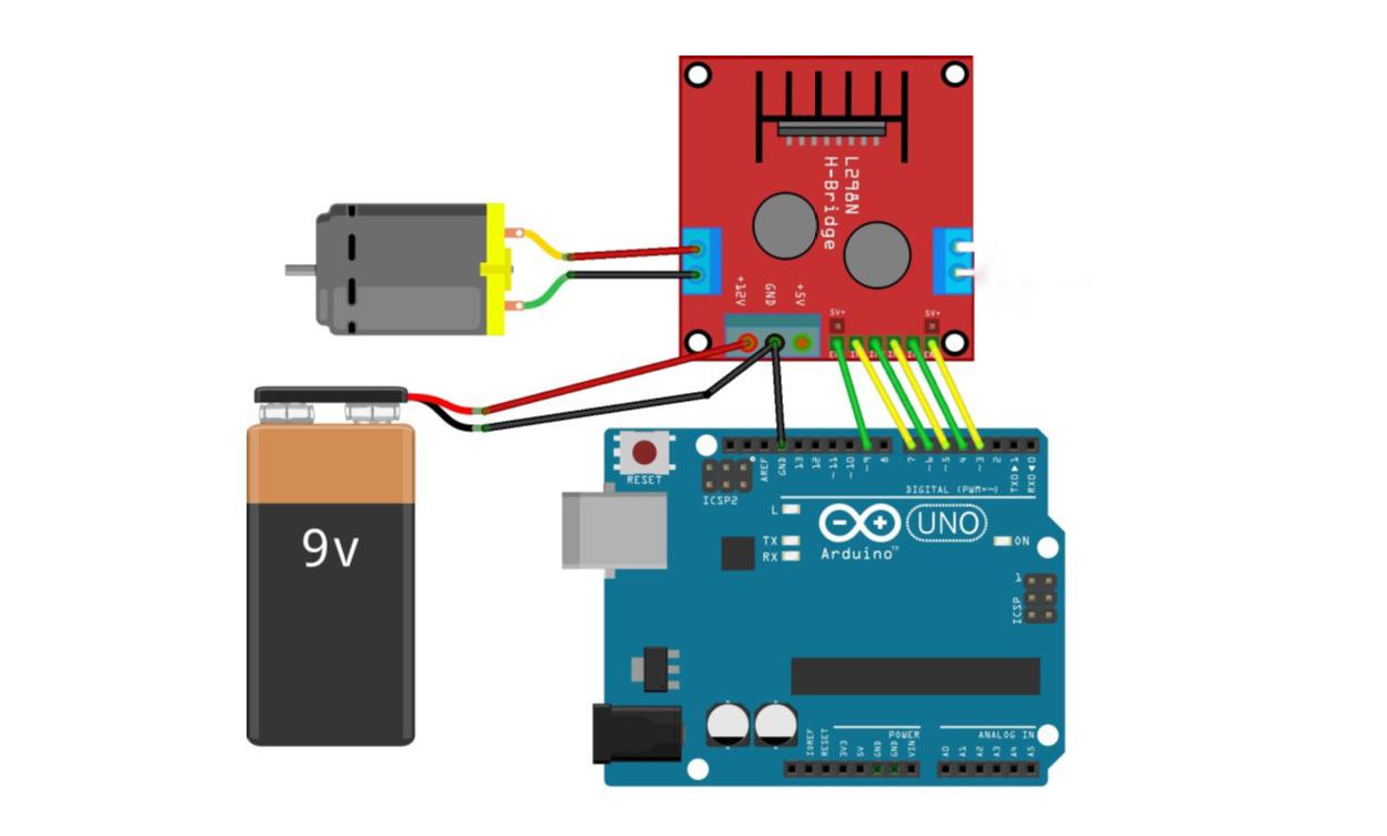 Arduino: មូលដ្ខានគ្រឹះការបញ្ជារម៉ូទ័រដោយប្រើ L298N Driver - eTRONICSKH