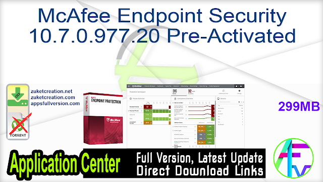 McAfee Endpoint Security 10.7.0.977.20 Pre-Activated