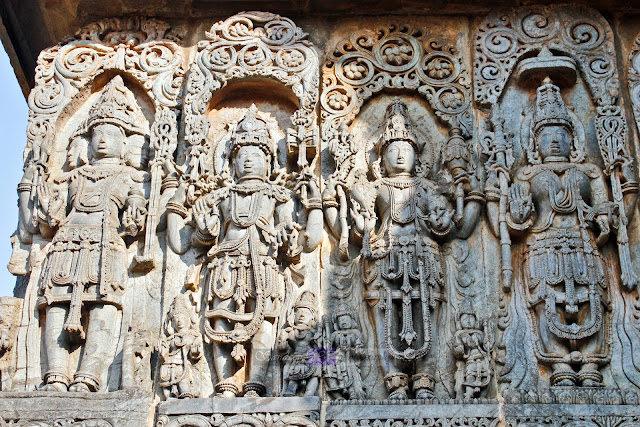 The first four of them were, from left, Brahma, Maheshwara, Vishnu, Lakshmi(??)