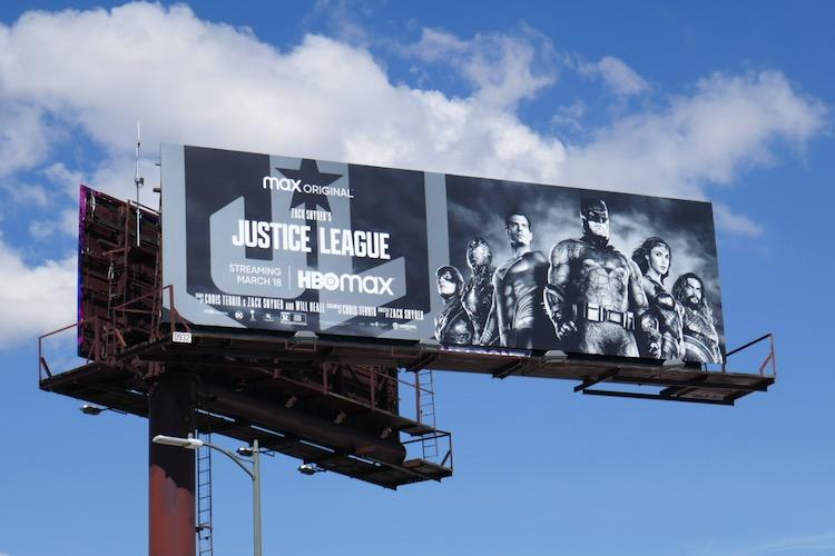 Justice League 2021 movie billboard