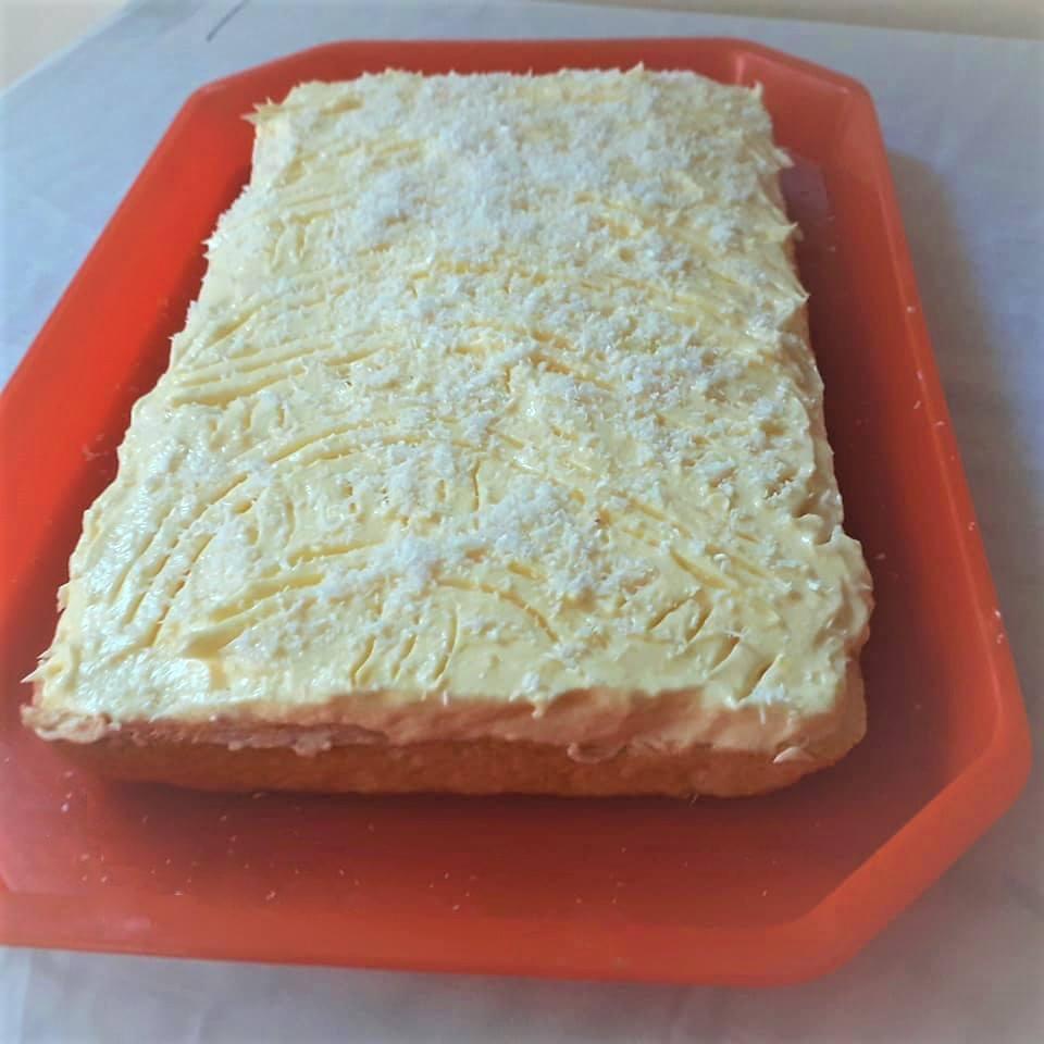 Очень вкусный и простой кокосовый торт с заварным кремом