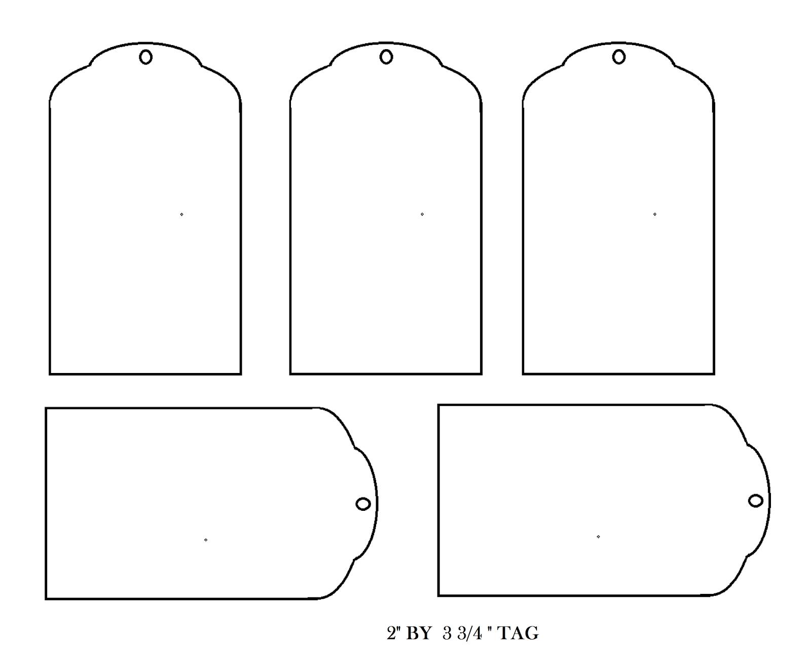 Blank Printable Tags